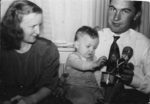 War Bonds Chpt 7 James and Helen Loer with son, early 1949